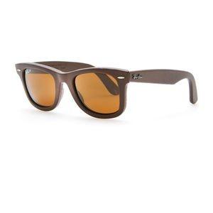 NEW • Ray Ban • Wayfarer Leather Brown Sunglasses